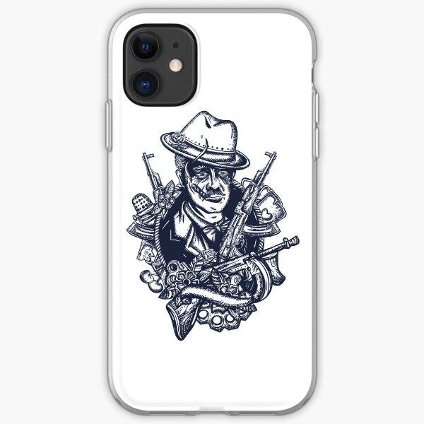 Mafia boss tattoo iPhone Soft Case
