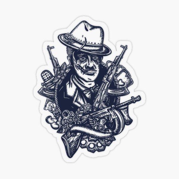 Mafia boss tattoo Transparent Sticker