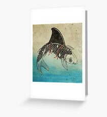Koi Shark Fin Greeting Card
