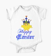 Funny easter gifts for kids babies clothes redbubble happy easter blue eyed irish king chicken clothing stickers negle Choice Image