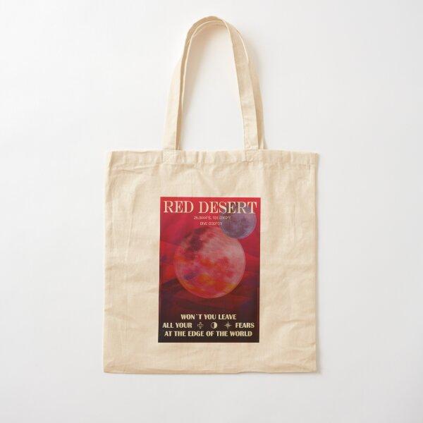 Red Desert Cotton Tote Bag