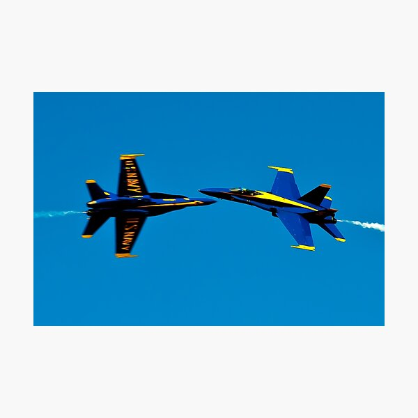 Blue Angels cross over Photographic Print