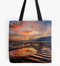 Largs Beach Sunset Sand Ripples Tote Bag