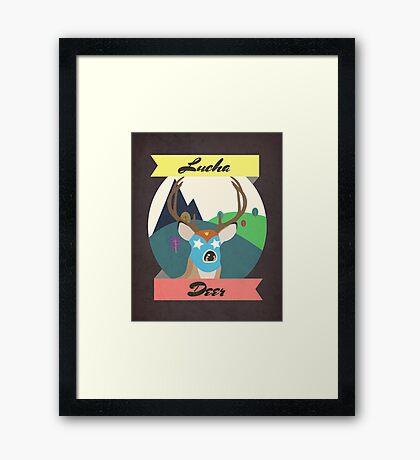 Luchadeer Framed Print