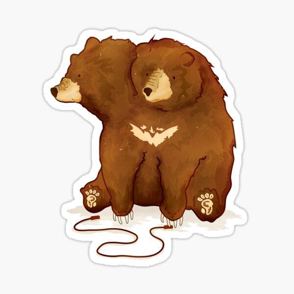 Fitness Bear by Devon Baker Sticker