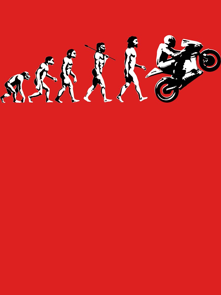 MOTORCYCLE EVOLUTION BIKE WHEELIE | Unisex T-Shirt