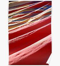 Multicoloured Cloth Poster