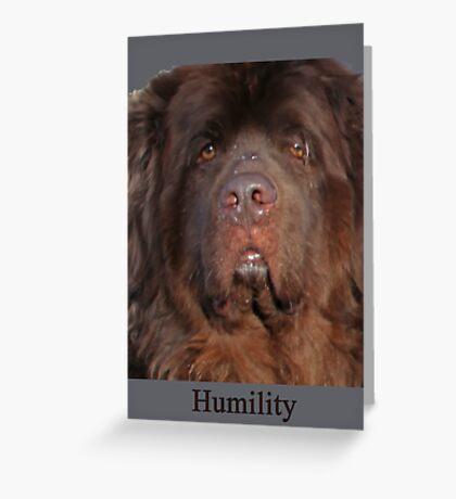Humility Greeting Card