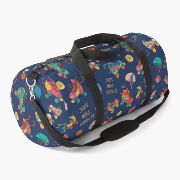 roller skates just roll with it Duffle Bag