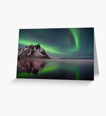 Northern Lights in Iceland. Greeting Card