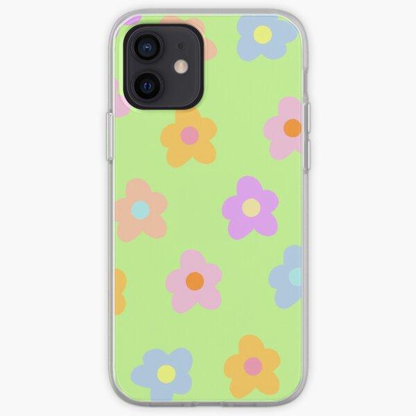 fleurs pastel à 5 pétales Coque souple iPhone