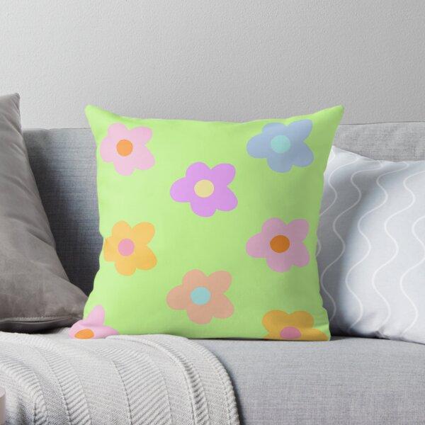 pastel 5-petal flowers  Throw Pillow
