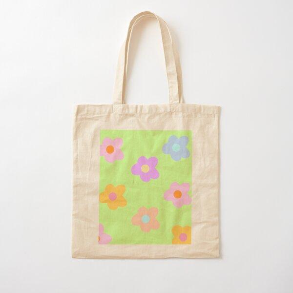 fleurs pastel à 5 pétales Tote bag classique