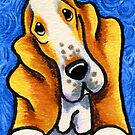 Basset Hound Starry Night by offleashart