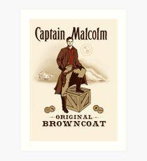 Captain Malcolm  Art Print