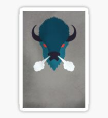 Buffalo by Wylee Sanderson Sticker