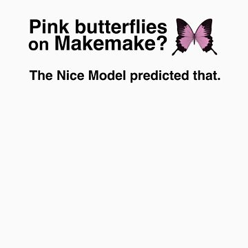 Pink butterflies on Makemake by alexhp