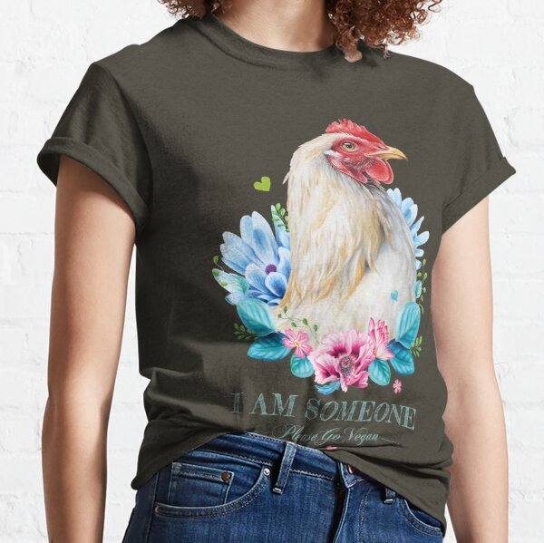 Hen with flowers Classic T-Shirt