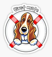 Basset Hound :: First Mate Sticker