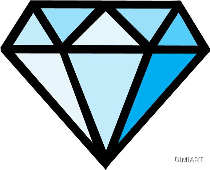 """""""Minecraft Diamond"""" Stickers By DIMIART"""
