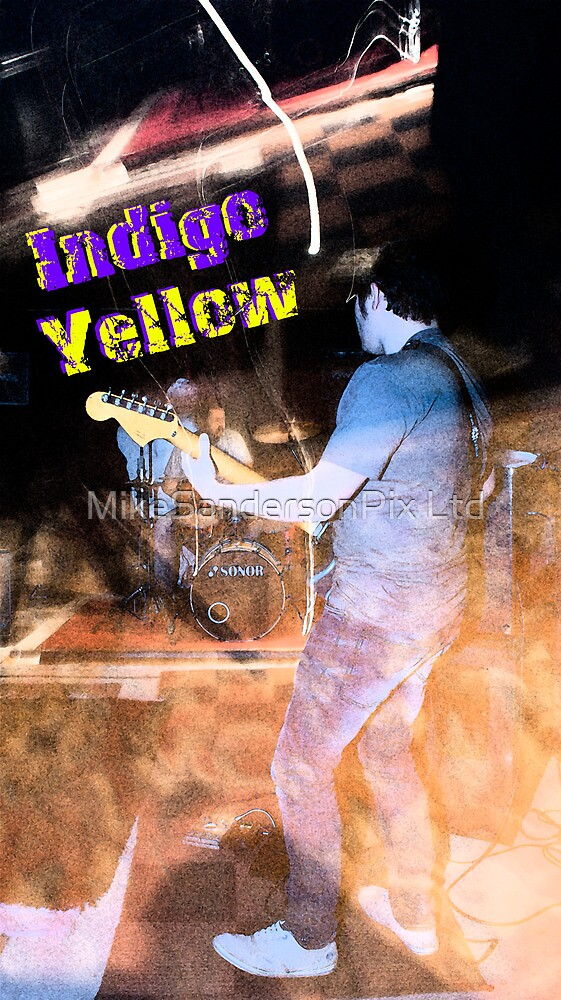 Indigo Yellow Band Poster - Glow by mps2000