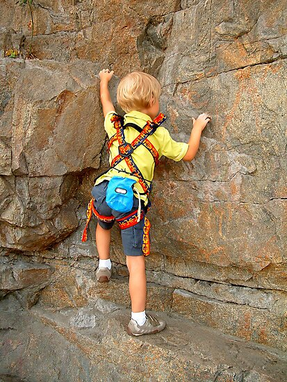 Young rock climber by snotbubble