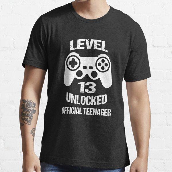 Nivel 13 adolescente oficial desbloqueado Camiseta esencial