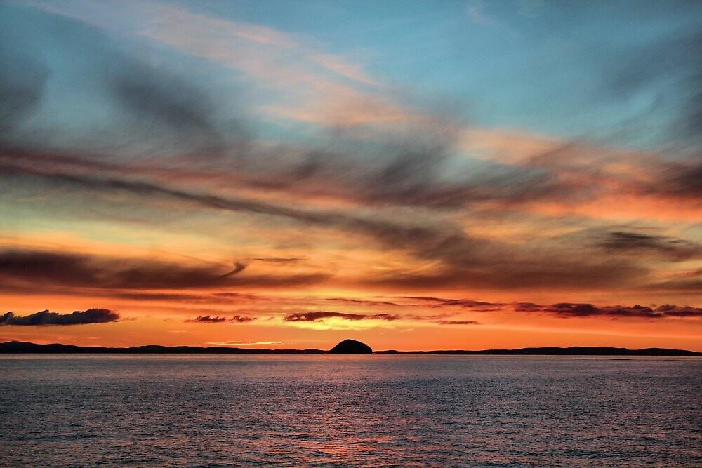Sunrise over Ailsa Craig  by Derick Gray
