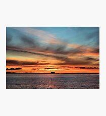 Sunrise over Ailsa Craig  Photographic Print