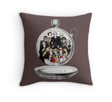 The clock strikes 12 Throw Pillow