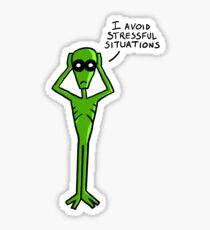 Little Alien Sticker