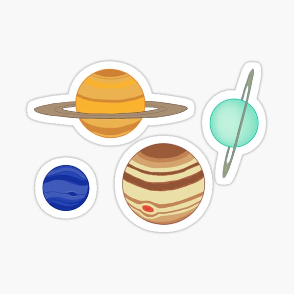 Gas Giant Planets Sticker