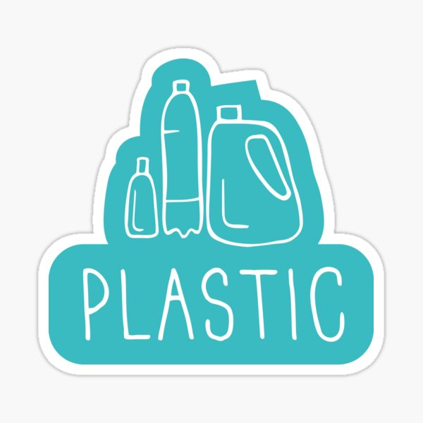 Plastic recycle sign Sticker