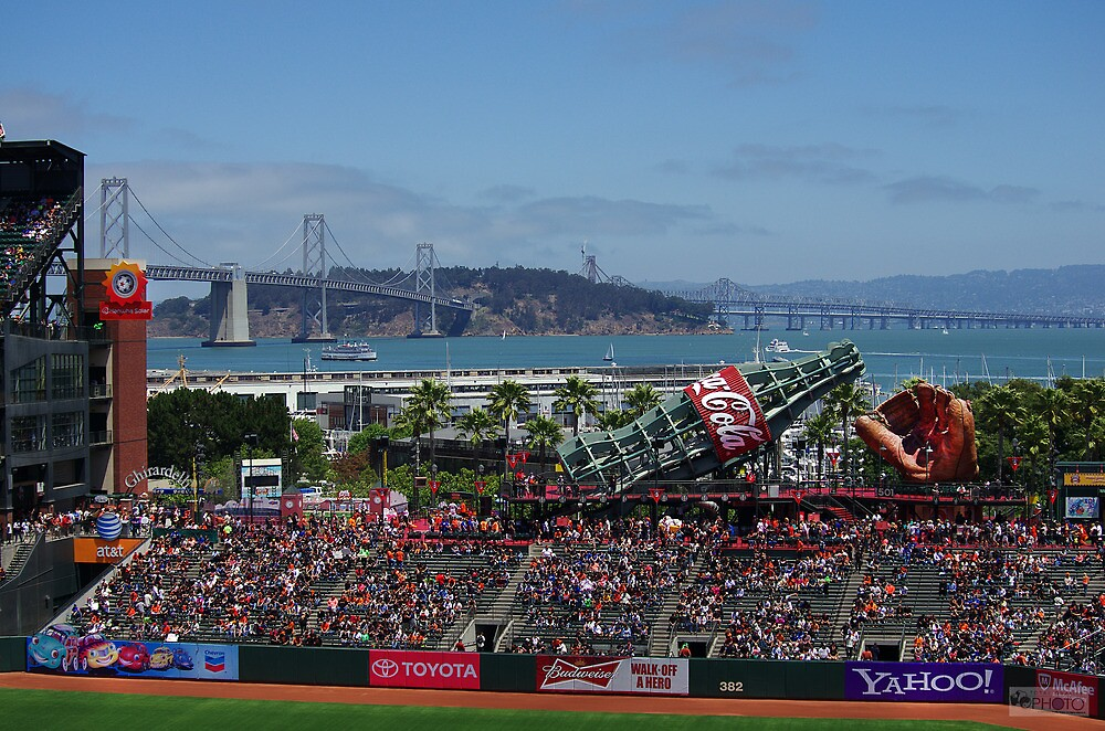 AT&T Park and San Francisco Bay Bridge, California by stevelink3