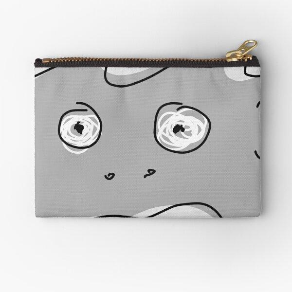 Grey Monsta Zipper Pouch