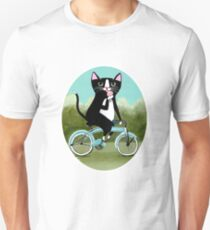 Ice Cream Bicycle Cat Unisex T-Shirt