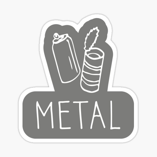 Metal recycle sign Sticker