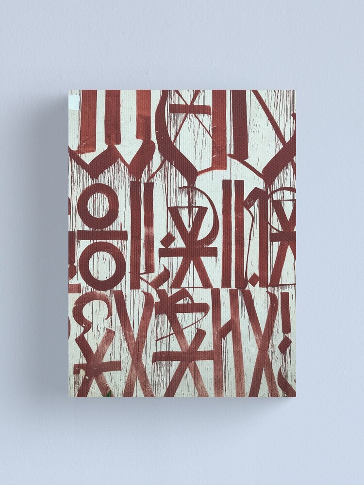 Alternate view of Retna Graffiti Calligraphy Canvas Print