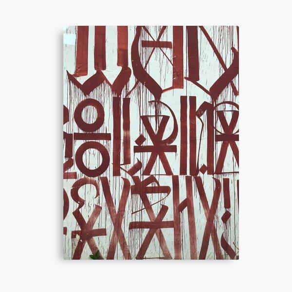 Retna Graffiti Calligraphy Canvas Print