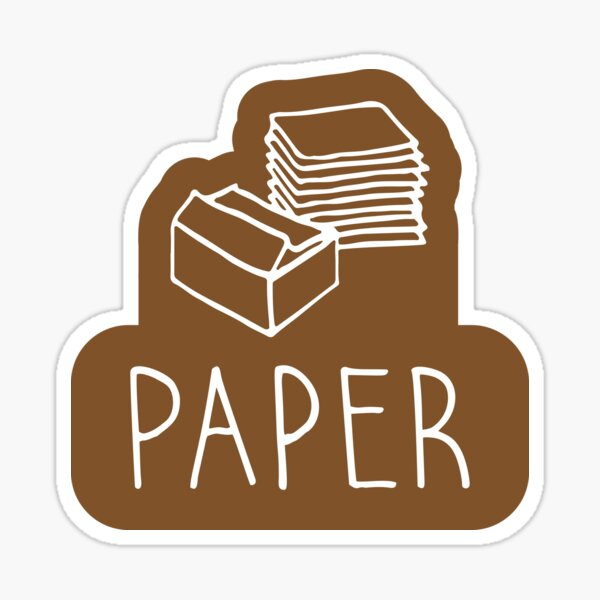 Paper recycle sign Sticker