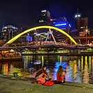Pedestrian Bridge, Melbourne by Peter Hammer