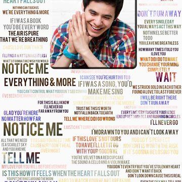 No Matter How Far Song Lyric Shirt by NicksChick