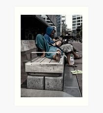 aotea square at lunch Art Print