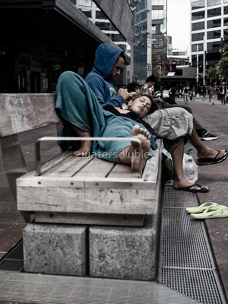 aotea square at lunch by watersoluble