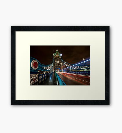 Welcome to Tower Bridge Framed Print