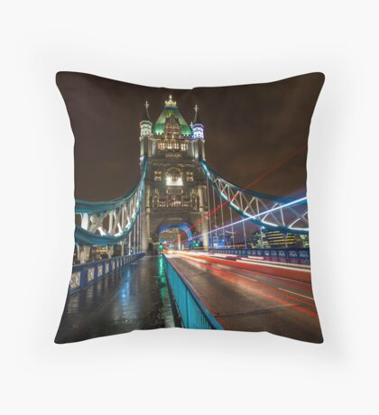 Welcome to Tower Bridge Throw Pillow