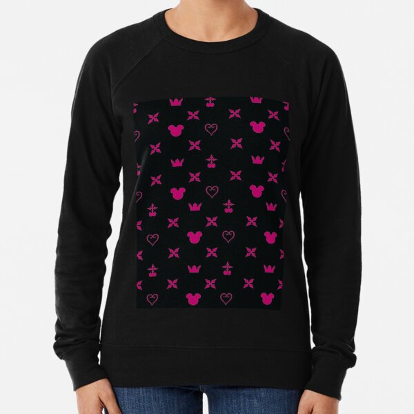Kingdom Hearts pink wraparound  Lightweight Sweatshirt