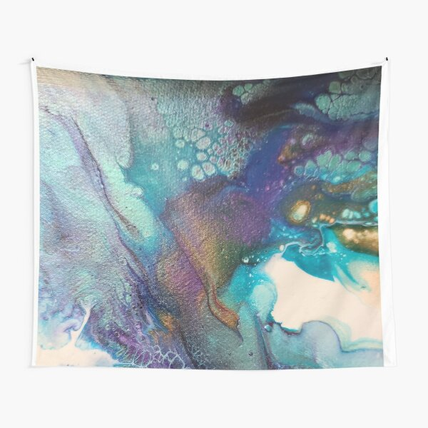 Acrylic Dutch Pour Abstract Art Tapestry