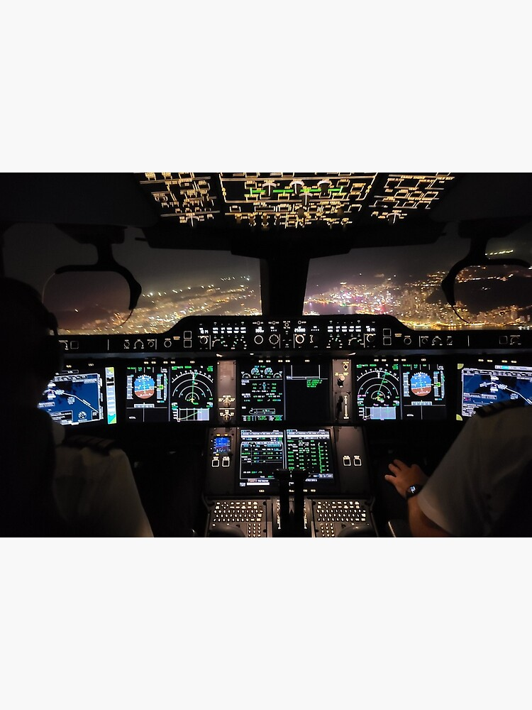 Airbus A350 -900 Cockpit out of Hong Kong by youngtimbits