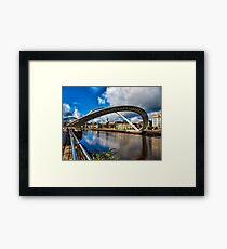 Millenium Bridge Opening Framed Print